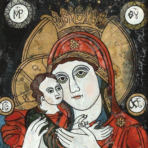 """""""Les Saints Grands Souverains Constantin et Hélène et la Vierge Marie avec l'enf…"""