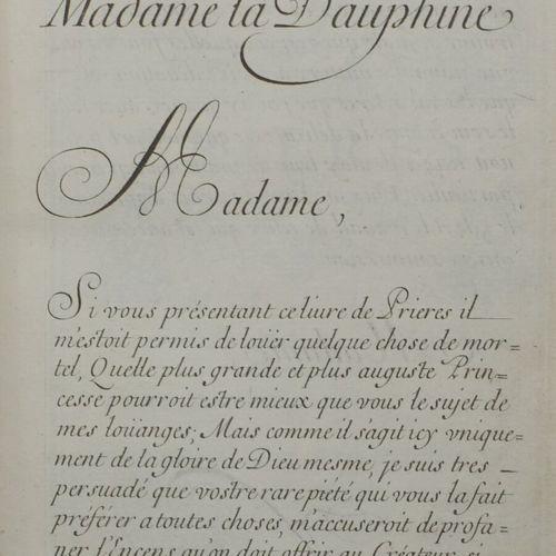 SENAULT Louis. Heures nouvelles dédiées à Madame la Dauphine . Paris, Chez l'aut…