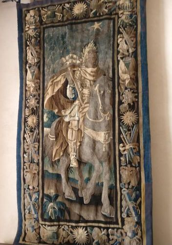 Julius Caesar. Tapestry from the Royal Aubusson Manufactory. Bears the mark of A…