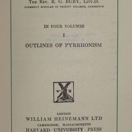 Platon et Sextus Empiricus. 4 volumes.