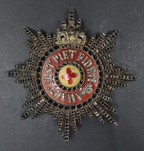 """RUSSIE. ORDRE DE SAINTE ANNE, créé en 1735. Plaque de 1ère classe """" avec diamant…"""