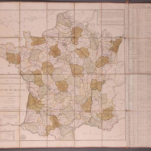 [FRANCE]. Jean Louis DUPAIN TRIEL. Tableau géographique de la navigation intérie…