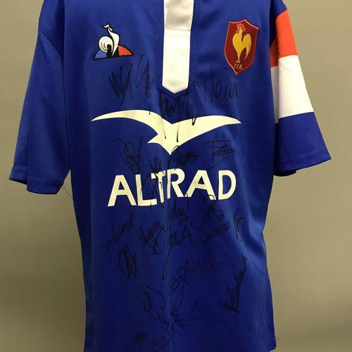 MAILLOT Le coq sportif de équipe de France de rugby , saison 2019 2020, signé pa…