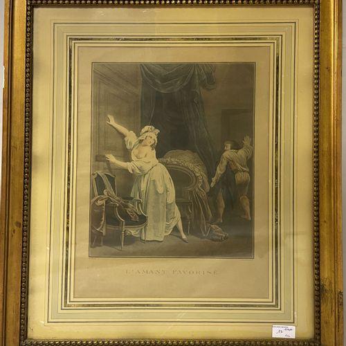 D'après Louis BOLLY D'après Louis BOLLY  Prélude de Nina  Estampe  45 x 33 cm à …