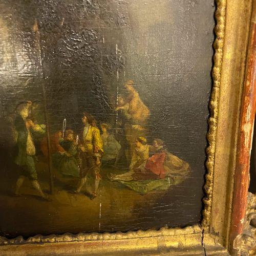 G. CHOABERT G. CHOABERT  Les lavandières  Huile sur toile marouflée sur isorel s…