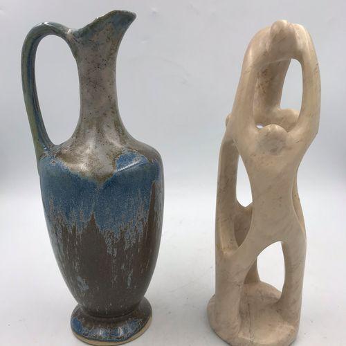 ANONYME ANONYME  SANS TITRE  Sculpture en pierre dure  H: 25 cm    On y joint un…