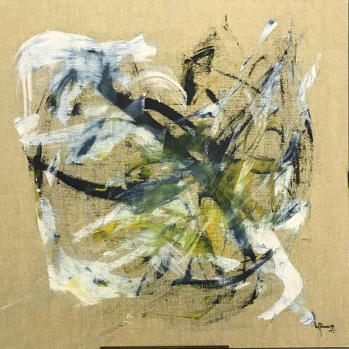W. BAIM W. BAIM  COMPOSITION, 1997  huile sur toile signée en bas en droite, con…