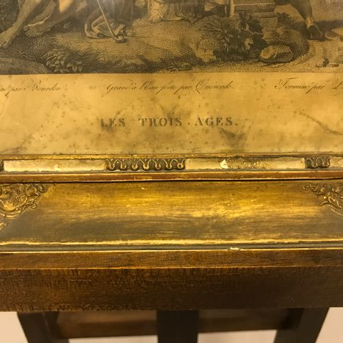D'après GERARD D'après GERARD  LES TROS AGES  17 x 19 cm  (Mouillures, papier ja…