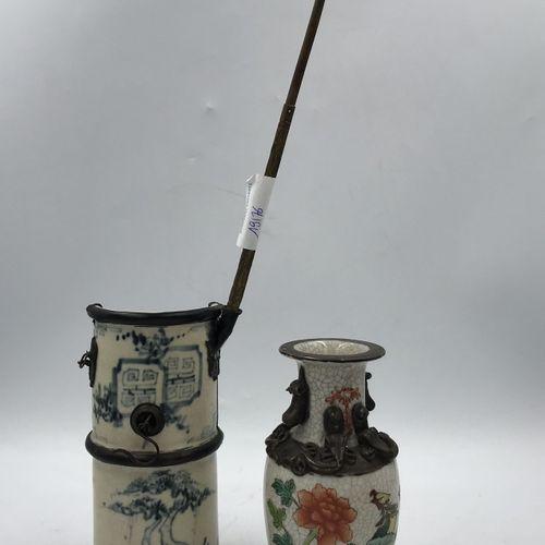Lot comprenant : Lot comprenant :   PIPE A OPIUM en porcelaine Chine (15 x 7 cm)…