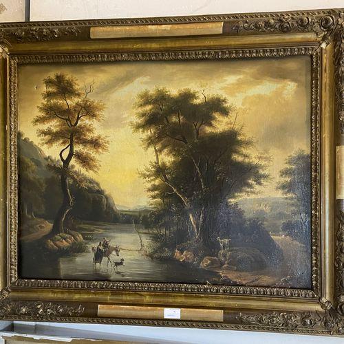 DUPUIS DUPUIS  PAYSAGE  Huile sur toile signée en bas à droite  54,5 x 73,5 cm  …