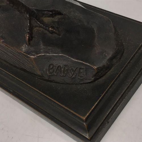 D'après BARYE D'après BARYE  FAISAN  Epreuve en bronze patiné signé sur la terra…