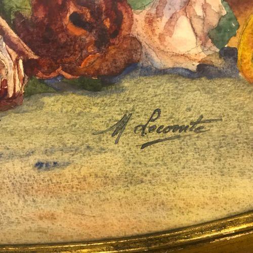 Marguerite LECOMTE Marguerite LECOMTE  PANIER DE ROSES  Aquarelle sur papier de …