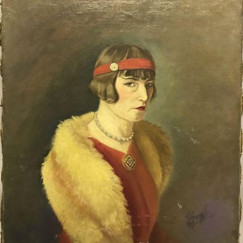 G. GARAM G. GARAM  Portrait de femme  Huile sur toile signée en bas à droite  (A…