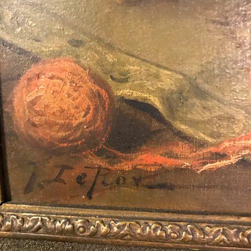 Jules LEROY Jules LEROY  CHATS ET BOBINES  Huile sur toile signée en bas à gauch…
