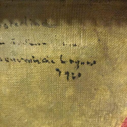 OSTERNIND OSTERNIND  BOUQUET DE PIVOINES  Huile sur toile portant une signature …