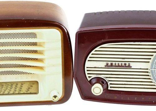 Philips B1F034 'Philetta' radio in bakelite cabinet, The Netherlands, 1955: Tele…