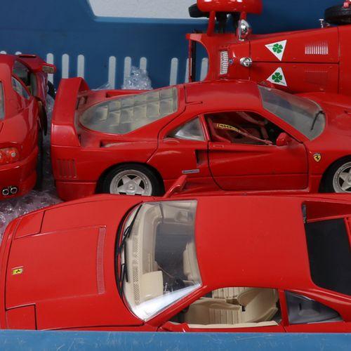 Auto's about 20 model cars, scale 1:18, Burago, Tonka etc., many Ferrari various…