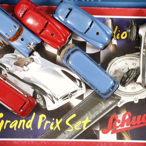 Auto's 6 Schuco model cars including a Grand Prix studio III set in original box…