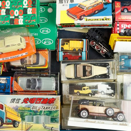 Auto's Model cars in original boxes, Impy, Travelling car, The collectors Miniat…