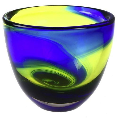 DIVERS Polychrome glass vase, design Hanne Dreutler, version Studio Åhus, Serica…