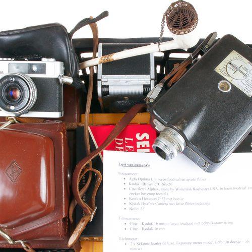 Photo and film cameras, etc., Agfa Optima I, Kodak Duaflex, Cine Kodak, etc.