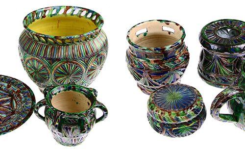 Porcelaine, faïence, etc. Poterie frisonne en céramique, cache pot, théière, cha…