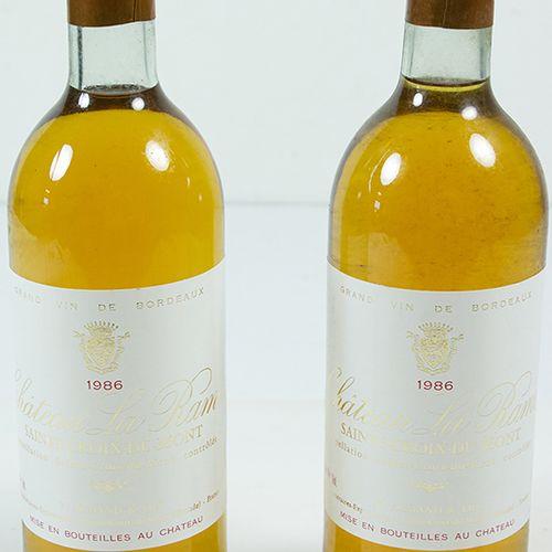 Vins, whisky, etc. Deux bouteilles Château la Rame, Sainte Croix du Mont, 1986 (…