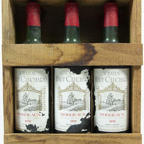 Vins, whisky, etc. Trois bouteilles : Michel Bertin, Château Haut Cluchard, Bord…