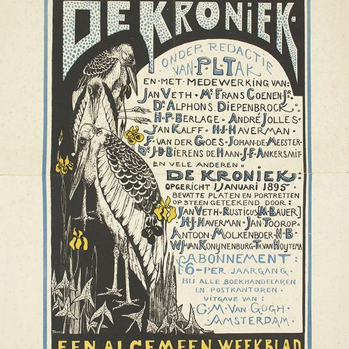 蚀刻版画、雕刻版画、丝网版画等。 Theo van Hoytema (1863 1917): 为《De Kroniek Een Algemeen Weekbla…