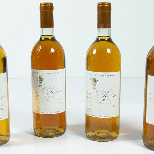 Vins, whisky, etc. Quatre bouteilles Château la Rame, Sainte Croix du Mont, 1985…
