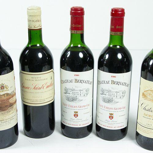 Vins, whisky, etc. Cinq bouteilles de vin : 2x Château Bernateau, Saint Emilion …