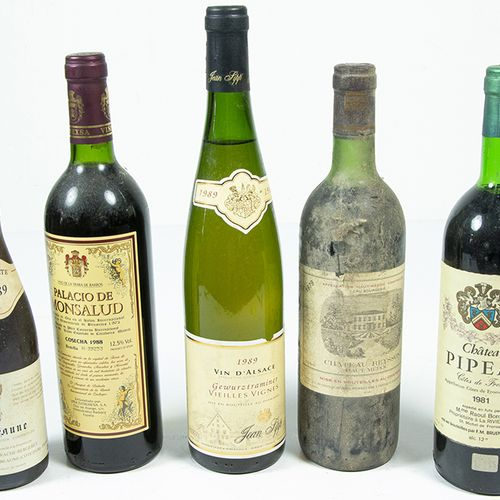 Vins, whisky, etc. Cinq bouteilles de vin : Viña Extremeña, Palacio de Monsalud …