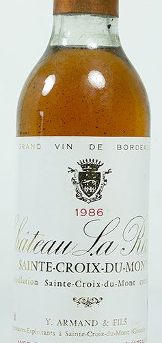 Vins, whisky, etc. Quatre demi bouteilles Château la Rame, Sainte Croix du Mont,…