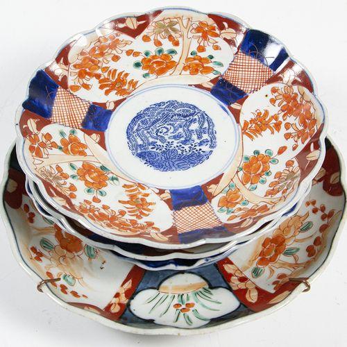 Art et objets d'Asie Quatre assiettes japonaises en imari, 19e/20e siècle la plu…