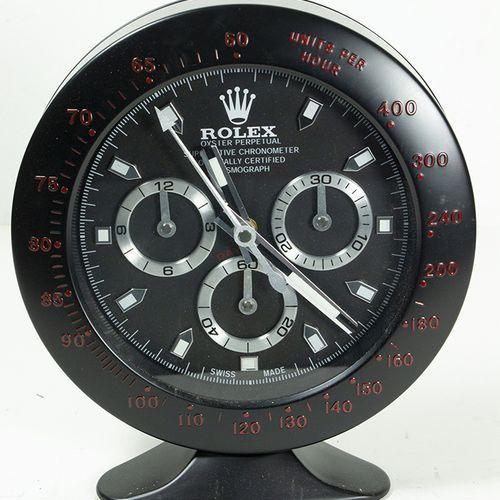 Horloges Horloge de table à quartz en métal noir en forme de Rolex Oyster Perpet…