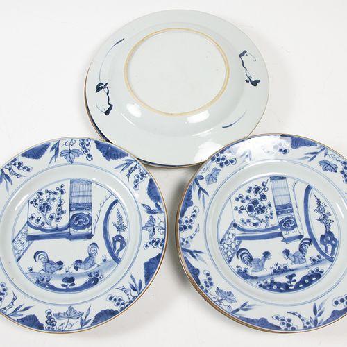 Art et objets d'Asie Sept plats en porcelaine de Chine à décor en bleu sous glaç…