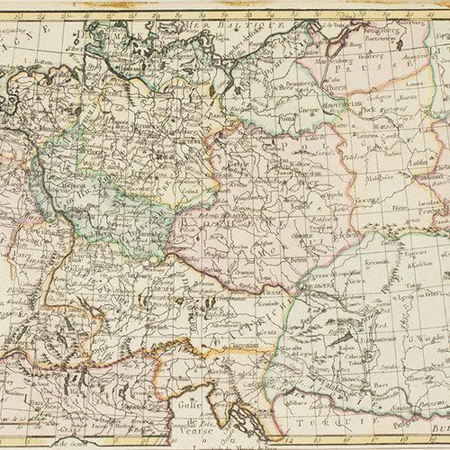 """蚀刻版画、雕刻版画、丝网版画等。 18世纪手绘版画:""""L'Allemagne, La Boheme et la Hongrie avec une partie …"""