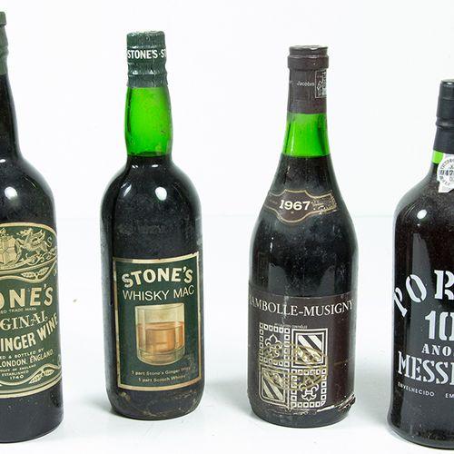 Vins, whisky, etc. Porto 10 Anos Messias, Chambolle Musigny 1967 et deux bouteil…