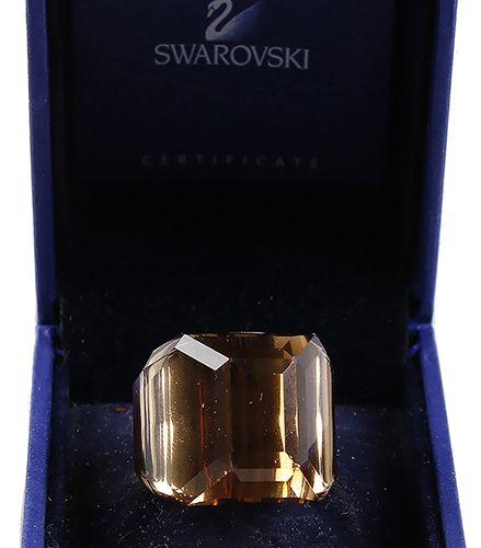 Verrerie Swarovski Swarovski : bague en violet, taille 16,25, avec certificat da…