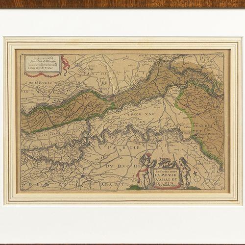 """蚀刻版画、雕刻版画、丝网版画等。 手绘版画 """"La terre entre la meuse Vahal et le Rhin """"出自 """"Atlas Porta…"""