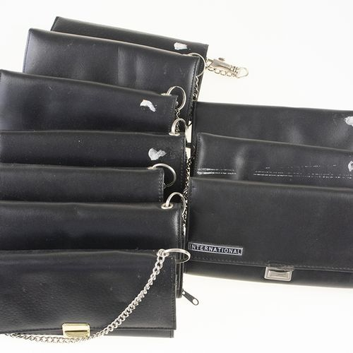 Bric a brac 10 artificial leather drivers wallets including chains