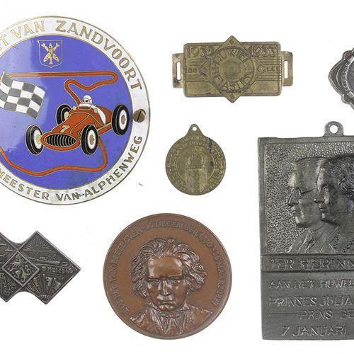 Bric a brac Enamelled plaque 'Circuit van Zandvoort Burgemeester van Alphenweg d…