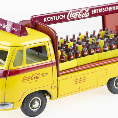 Modeling Cars Very Rare TippCo Tin Friction Toy, Coca Cola VW Delivery Van with …