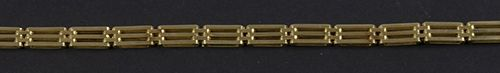 Gold jewellery and objects 14k yellow gold bracelet 19.5 cm, 16.12 grams