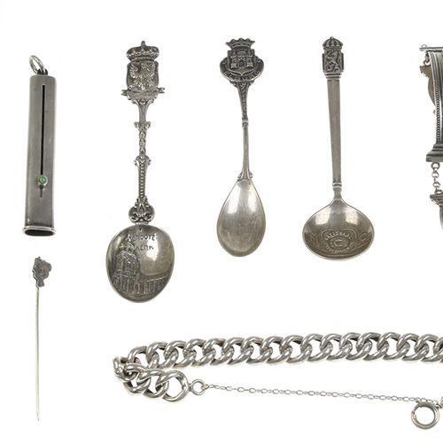 Silver objects Netherlands Zilveren bijbelslotarmband, bladwijzer, theelepels, s…