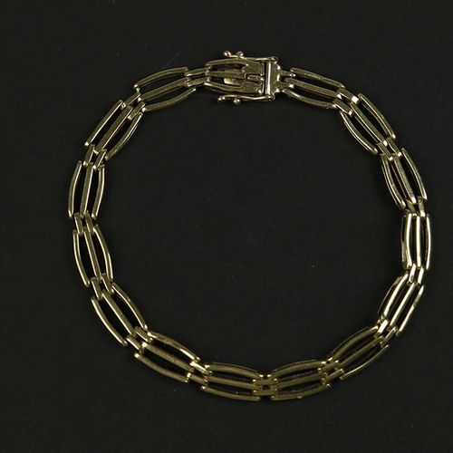 Gold jewellery and objects 14k yellow gold link bracelet 19 cm, 11 gr