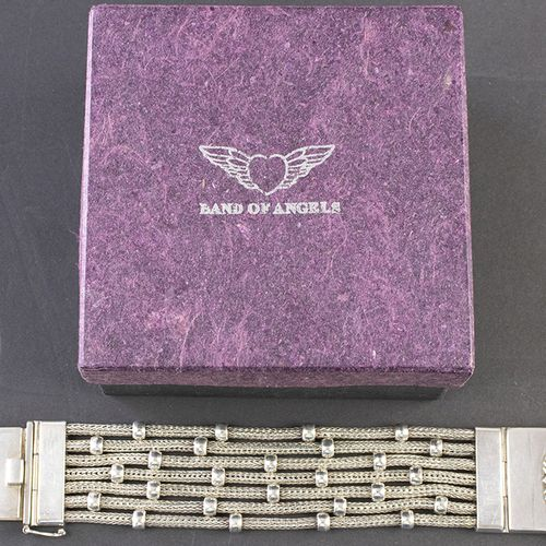 Silver jewellery Silver seven strand Band of Angels bracelet in original case 13…