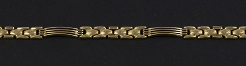 Gold jewellery and objects 14k yellow gold bracelet 21 cm, 15 gr 15