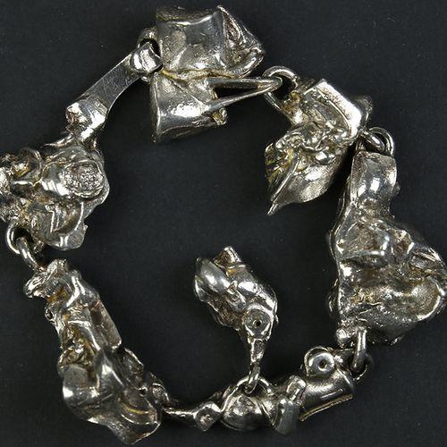 Silver jewellery silver bracelet Lapponia, BJÖRN WECKSTRÖM, Ruben the Robot, Fin…