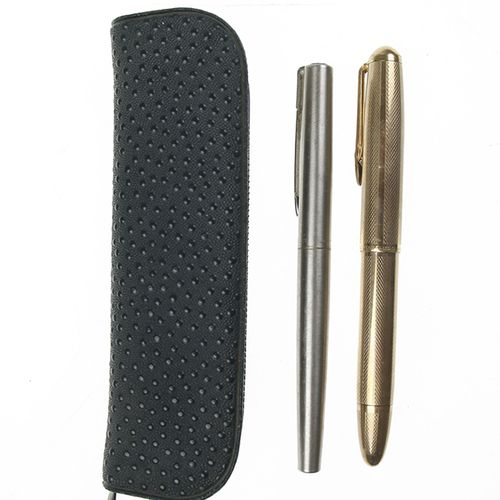 Pens 14ct gold filled fountain pen with 14ct gold nib, Mars Staedler, and Waterm…